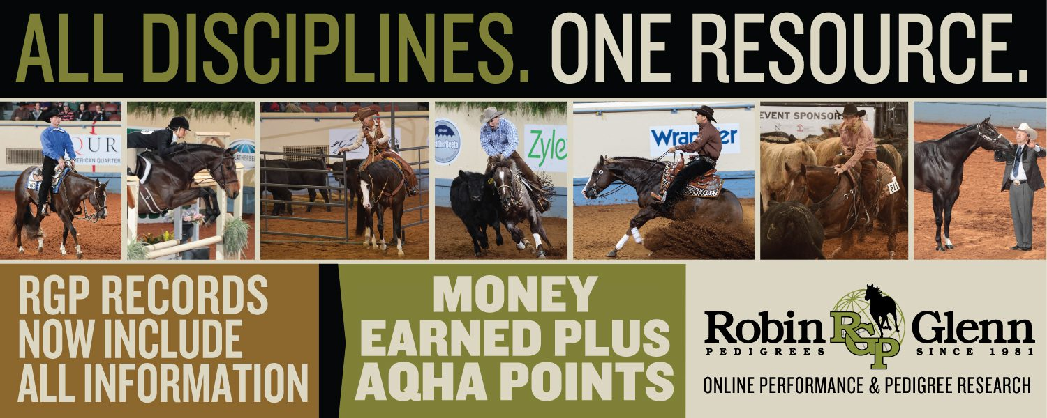 Robin Glenn Pedigrees | Sale Catalogs | RGP Online Equine Data